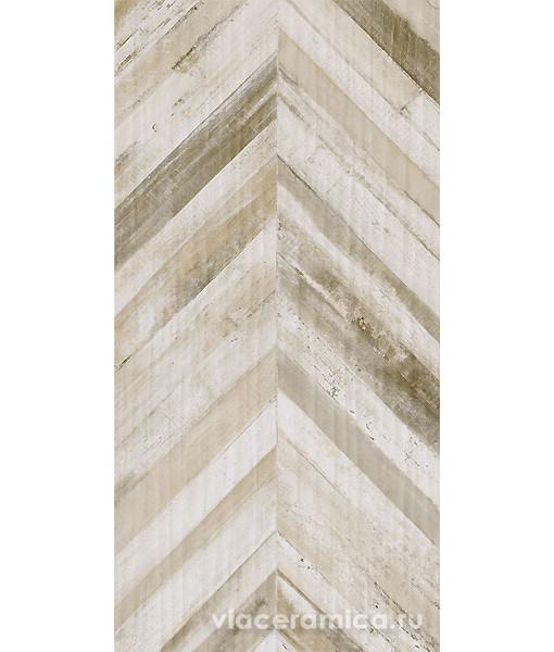 Керамическая плитка Rafters Cream Chevron Rett. 60x120